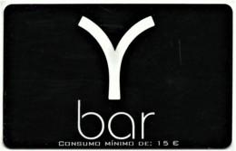 """Y Bar - Card N.º 8367 - Consumo Mínimo: 15 € - Advertising PEPSI & Restaurante O """" Alentejano """" - Compadre Beja Portugal - Andere"""