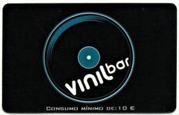 "Vinil Bar - 10 € - Card N.º 10245 - Advertising PEPSI & Restaurante O "" Alentejano "" - Compadre Beja Portugal - Autres Collections"