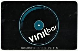 "Vinil Bar - 5 € - Card N.º 9616 - Advertising PEPSI & Restaurante O "" Alentejano "" - Compadre Beja Portugal - Autres Collections"