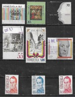 1976-9 Venezuela Coro-navidad 77-idioma-Paez-virgen De Coromoto-dr. Pi Suner-Bolivar 9v. - Venezuela