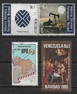 1980-5 Venezuela Petroleo-UPU-navidad 80 4v. - Venezuela