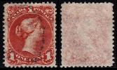 Canada (Scott No.   22b (Grande Reine - Papier Mince / Large Queen Thin Paper) (o) TB / VF - Usados