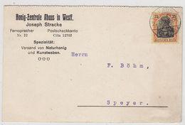 Deutsches Reich GA Von Der Honig-Zentrale Ahaus Mit EF - Duitsland