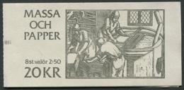 Sweden / Sverige: Sc# 1840a - 1985 - 20 Kr. Booklet -  Paper Production/Massa Och Papper MNH - 1981-..