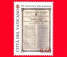 Nuovo - MNH - VATICANO - 2011 - 150º Anniversario Dell'Osservatore Romano - Habemus Papam - Benedetto XV - 0,60 - Vatican