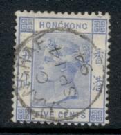 Hong Kong 1882-1902 QV Portrait, Wmk Crown CA 5c FU - Gebruikt