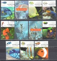 Poland  2014 - Marine Life - Exotic Fish - Mi.4716-23 - Used - 1944-.... Republic