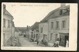 02 CPA CHEVREGNY - 1904 - LE HAUT DE LA GRANDE-RUE - COMMERCES - BELLE ANIMATION++++ E. CHASERAY - France