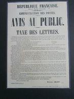 """FRANCE / 2019 / Y&T N° 5305A AFF : """"Cérès 1849-2019"""" Du Coffret Prestige - Affiche Annonçant La Création Timbre-poste - Documents Of Postal Services"""