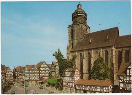 Homberg / Efze (Bez. Kassel) - Marktplatz U. Marienkirche - Homberg