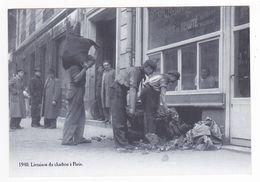 CP Moderne VOIR DOS Nostalgie 1940 Livraison Du Charbon à Paris Le Bougnat Le Charbonnier Cave D'une Parfumerie - Artisanry In Paris