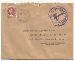 PETAIN 1FR50 LETTRE PONT CHATEAU 1.8.1944 LOIRE INFRE + CACHET VIOLET ETAT FRANCAIS SOUS PREFECTURE SAINT NAZAIRE - Marcophilie (Lettres)