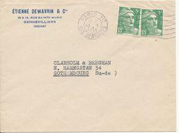 France Cover Sent To Sweden Paris 18-10-1946 - France