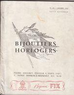 Rare Revue Française Des Bijoutiers Et Horlogers Octobre 1952 Avec 207 Pages Et Nombreuses Publicités - Bijoux & Horlogerie