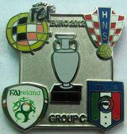 Pin EURO 2012 Group C Spain Croatia Italy Ireland - Calcio