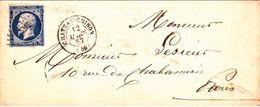 LSC Losange PC 765 Château Chinon 12/03/1857 / YT 14Aa - Marcophilie (Lettres)