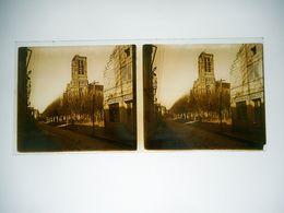 PHOTO STEREO PLAQUE DE VERRE SOISSONS GUERRE 14 / 18 Aux Environs Du Front Confiserie BRULTET - Glasplaten