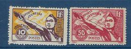 """Indochine YT 284 & 285 """" Jeunesse Sportive """" 1944 Neuf* - Ungebraucht"""