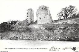 Cannes .Les Restes De L'ancien Chateau Des Abbés De Lerins. - Cannes