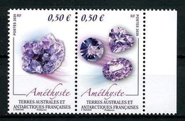 TAAF 2020  N° 919/920 ** Neufs MNH Superbes Minéraux Améthiste Géologie Minérals - Neufs