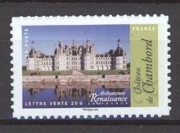 N° 1114 A Y.T. France Neuf ** Auto Adhésif Architecture De La Renaissance Châteaux (support Blanc) - Luchtpost