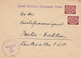 GG: Dienst: Brief Portogerecht MeF Zollamt Krakau Nach Berlin - Occupation 1938-45