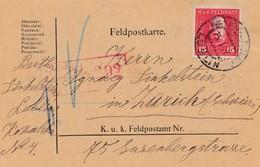 1918: Feldpostkarte Lublin: Zensiert Feldkirch In Die Schweiz - Autres - Europe