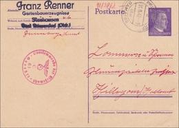 Ganzsache: Neuhausen, Bei Bamberg, 1942 Nach Holland Mit Zensur - Alemania