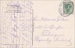 Bahnpost: Ansichtskarte Mit Zugstempel Breslau-Charlottenburg 1909 - Ohne Zuordnung