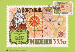 Portugal Madeira 1981 Maximum Card; History; Discovery Of Madeira; Sailing Ship: Henry The Navigator; Texteira - History