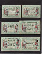 Série 6 Billets ACIER ORDINAIRE . 1 , 5, 10 , 50 , 100  & 500 KILOS .31 Mars 1949 - Bons & Nécessité