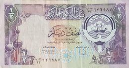 RS - Kuwait  1/2 DInar Banknote 1980 #GB/29 626987 P.12d Signature 6 - Koeweit