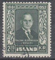 +M347. Iceland 1952. Björnsson. Michel 282. Cancelled - 1944-... Republique
