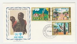 FDC Enveloppe Premier Jour Official Republique De Guinee IYC 1979 - Guinea (1958-...)