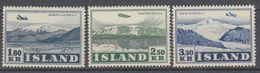 +M348. Iceland 1952. Landscape With Aeroplane. Michel 278-80. MNH(**) - 1944-... Republique