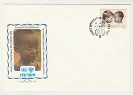 FDC Enveloppe Premier Jour Official Republique Rwandaise-rwanda IYC 1979 - Rwanda
