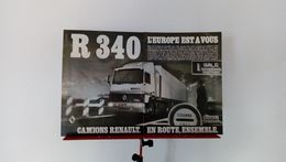 Publicité De Presse De 1986 Camion Renault R 340 Turbo Intercooler - Camions