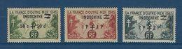 "Indochine YT 296 à 298 "" France Outremer Surchargé "" 1945 Neuf* - Ungebraucht"