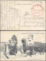 "Bataillon Allemand - Feldpost (Zeebruge 1914) + Briefstempel ""Kaiserliche Marine / Kommando / Matrosenbrigade 2. Matr. A - Weltkrieg 1914-18"