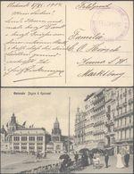 "Bataillon Allemand - Feldpost (Ostende 1914) + Cachet Feldpost ""Kaiserliche Marine / Matrosen Artillerie Regiment N°1"" - Weltkrieg 1914-18"