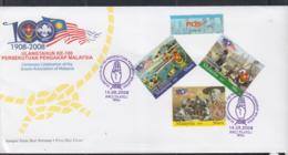 MALAYSIA -  SCOUTS SET OF 3 ON ILLUSTRATED FDC - Malesia (1964-...)