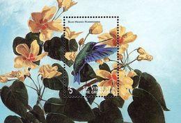MDB-BK9-086 MINT ¤ ST VINCENT & GREN. 1998 BLOCK ¤ BIRDS OF THE WORLD - OISEAUX - PAJAROS - VOGELS - VÖGEL - - Colibris