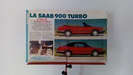 Coupure De Presse De 1986 Saab 900 Turbo Cabriolet - Voitures