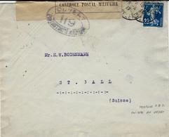 1917- Env. Affr. Semeuse 25 C  PERFORE  K & K  ( Kahn & Kahn ) Pour La Suisse -censure 119 - France