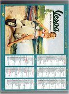 CALENDRIER ALMANACH DU FACTEUR 2012 OLLER PUBLICITE VESPA SCOOTER ET COPPERTONE - Calendars