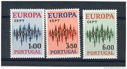 Portugal  :  Yv  1150-52  **   Europa 1972 - 1910-... République