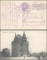 "Bataillon Allemand - Feldpost (Bruxelles 1914) + Briefstempel ""Königlich Preussische Kurze Marine-kanonen Batterie Nr.3"" - Weltkrieg 1914-18"
