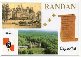 63 RANDAN Village Réputé Pour Ses Pralines Et Son Château, Multivue - TPN 45 -  Editions WANADOO - TBE - France