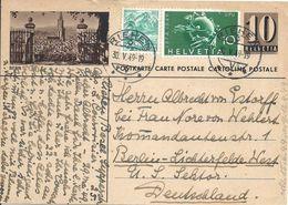 """PK 163  """"Bern""""  (vom Rosengarten)            1949 - Entiers Postaux"""