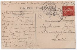 Boîte Urbaine D Identifiée PLAGE De MESNIL-VAL (casino) Seine-Inférieure 10c Semeuse 1908 CRIEL Sur MER - 1877-1920: Periodo Semi Moderno